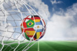 multi flag soccer ball
