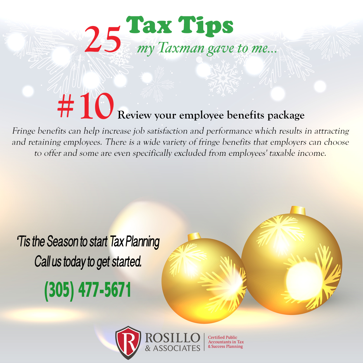 Tax Tip #10 My Tax Man Gave to Me…