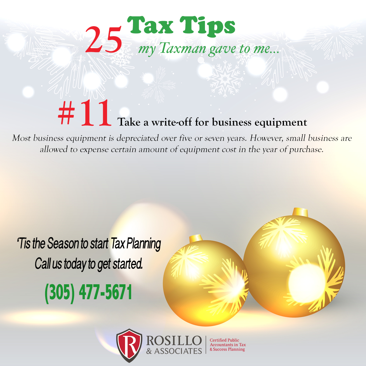 Tax Tip #11 My Tax Man Gave to Me…