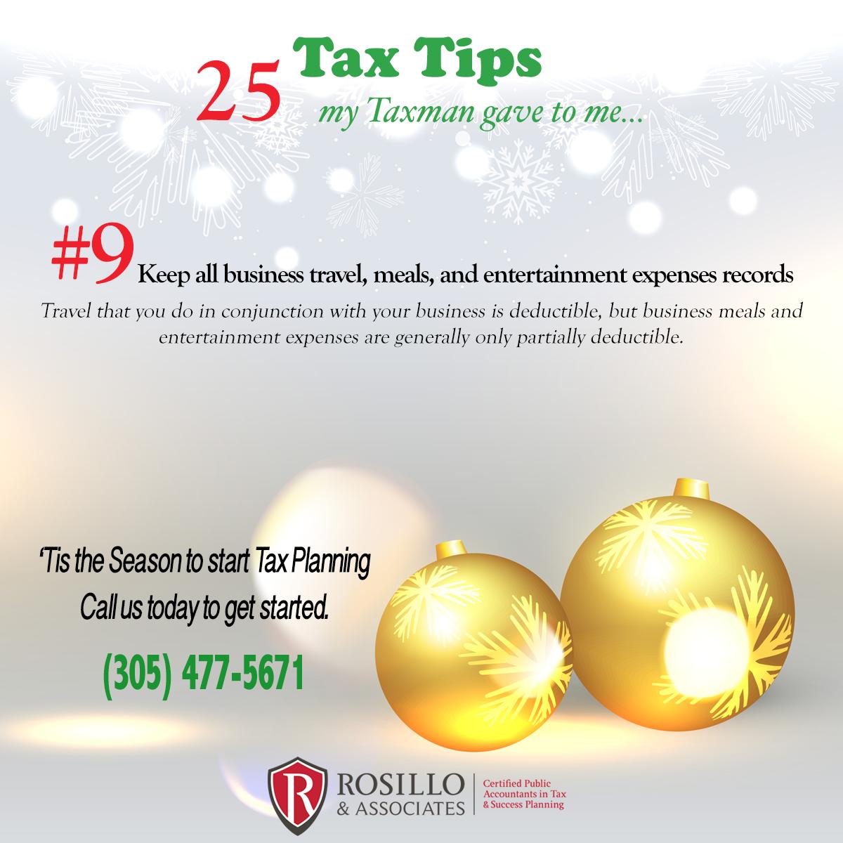 Tax Tip #9 My Tax Man Gave to Me…